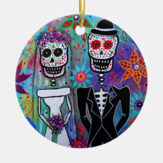 DIA DE LOS MUERTOS WEDDING CHRISTMAS ORNAMENT