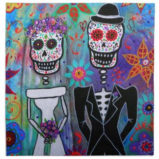 DIA DE LOS MUERTOS WEDDING NAPKIN