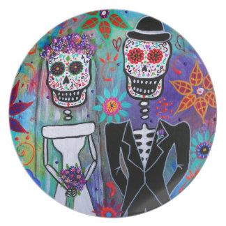 DIA DE LOS MUERTOS WEDDING PLATE