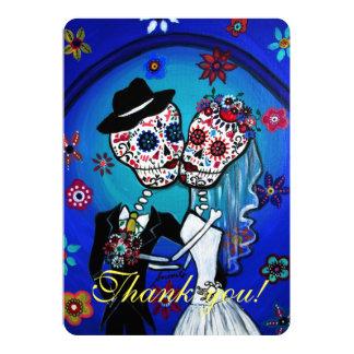 DIA DE LOS MUERTOS WEDDING THANK YOU CARD 13 CM X 18 CM INVITATION CARD