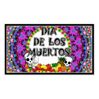 Dia De Los Muertos Wild Colors Double-Sided Standard Business Cards (Pack Of 100)