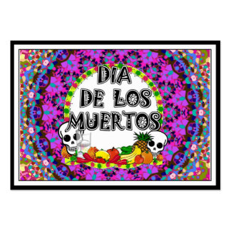 Dia De Los Muertos Wild Colors Pack Of Chubby Business Cards