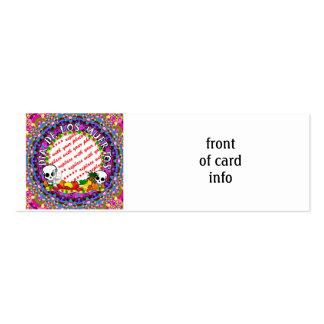 Dia De Los Muertos Wild Colors Photo Frame Business Cards