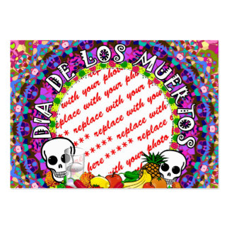 Dia De Los Muertos Wild Colors Photo Frame Business Card