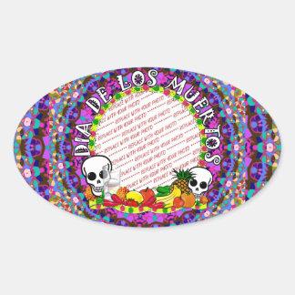 Dia De Los Muertos Wild Colors Photo Frame Sticker