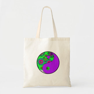 Dia De Los Muertos yin yang shopping bag
