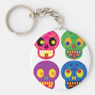 Dia de los todos los muertos key chain