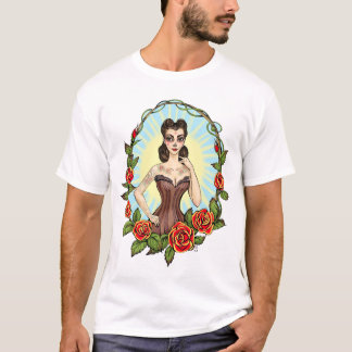 Día de Muertos Day of the Dead vintage tatto lady T-Shirt