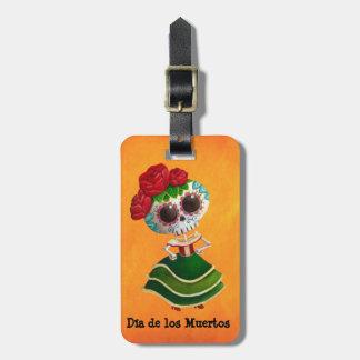 Dia de Muertos Mexican Miss Death Luggage Tag