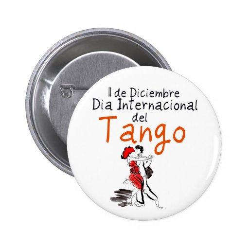 Dia Internacional del Tango 6 Cm Round Badge