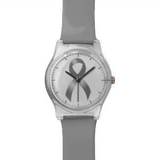 Diabetes and Brain Tumor / Cancer Grey Ribbon Wristwatches