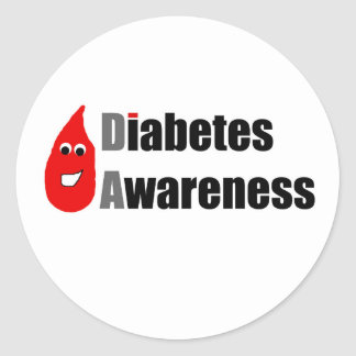 Diabetes Awareness Buddy Classic Round Sticker