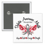 Diabetes Awareness Month Butterfly 3.2 15 Cm Square Badge