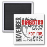 Diabetes Awareness Month Every Month For ME Square Magnet