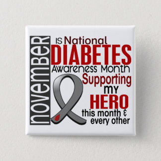 Diabetes Awareness Month Ribbon I2.1 15 Cm Square Badge