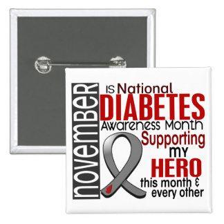 Diabetes Awareness Month Ribbon I2.1 15 Cm Square Badge