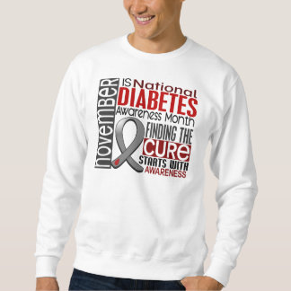 Diabetes Awareness Month Ribbon I2.5 Sweatshirt