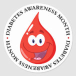Diabetes Awareness Month Round Stickers