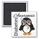 Diabetes Awareness Penguin Square Magnet