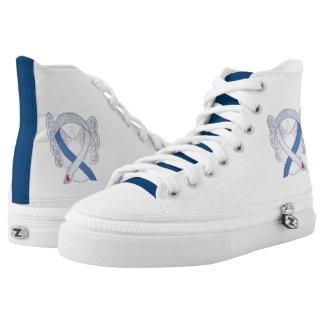 Diabetes Awareness Ribbon IDDM Angel Custom Shoes