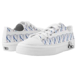 Diabetes Awareness Ribbon IDDM Custom Sneakers