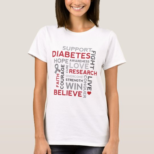 Diabetes Awareness word cloud design T-Shirt