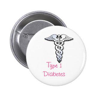 Diabetes Badge - Pink