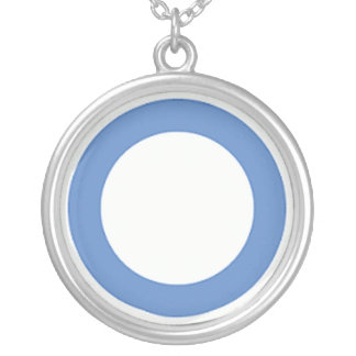 diabetes-blue-circle silver plated necklace