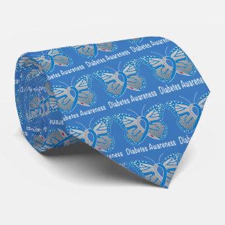 Diabetes Butterfly Awareness Ribbon Tie
