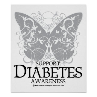 Diabetes Butterfly Poster