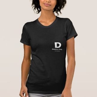 Diabetes Daily Dark Color Ladies Tees
