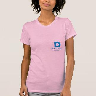 Diabetes Daily Light Color Ladies Tees