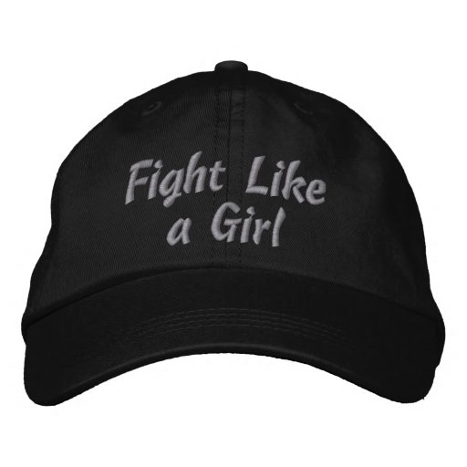Diabetes Fight Like a Girl Embroidered Baseball Cap
