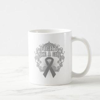 Diabetes Fight Like A Girl Fleurish Coffee Mug