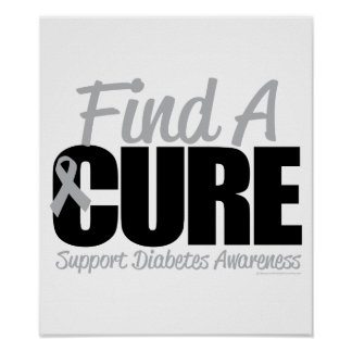 Diabetes Find A Cure 2 Poster