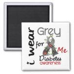 Diabetes I Wear Grey For ME 43 Fridge Magnet