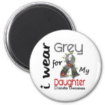 Diabetes I Wear Grey For My Daughter 43 Fridge Magnets
