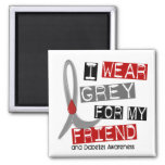 Diabetes I Wear Grey For My Friend 43 Magnets