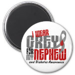 Diabetes I WEAR GREY FOR MY NEPHEW 6.2 Fridge Magnets