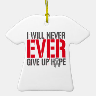 Diabetes I Will Never Ever Give Up Hope Double-Sided T-Shirt Ceramic Christmas Ornament