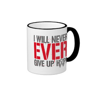 Diabetes I Will Never Ever Give Up Hope Ringer Mug