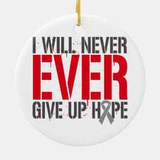 Diabetes I Will Never Ever Give Up Hope Round Ceramic Decoration