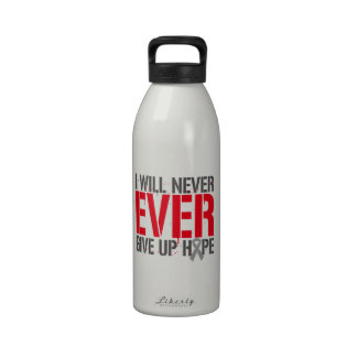 Diabetes I Will Never Ever Give Up Hope Water Bottle