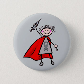 Diabetes Insulin Superhero Girl 6 Cm Round Badge