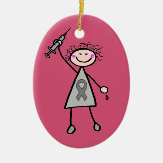 Diabetes Insulin Superhero Girl Christmas Ornament