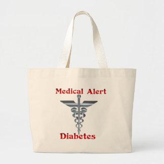 Diabetes  Medical Alert Jumbo Tote Bag