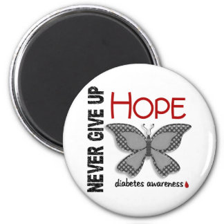 Diabetes Never Give Up Hope Butterfly 4.1 6 Cm Round Magnet