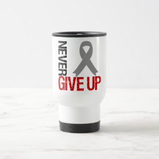 Diabetes Never Give Up Hope Ribbon Stainless Steel Travel Mug