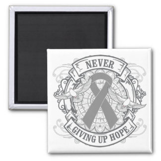 Diabetes Never Giving Up Hope Square Magnet
