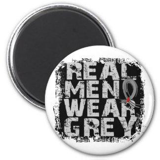 Diabetes Real Men Wear Grey 6 Cm Round Magnet